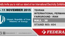 IRAN INTERNATIONAL ELECTRICTY EXHIBITION 08-11 NOVEMBER 2015