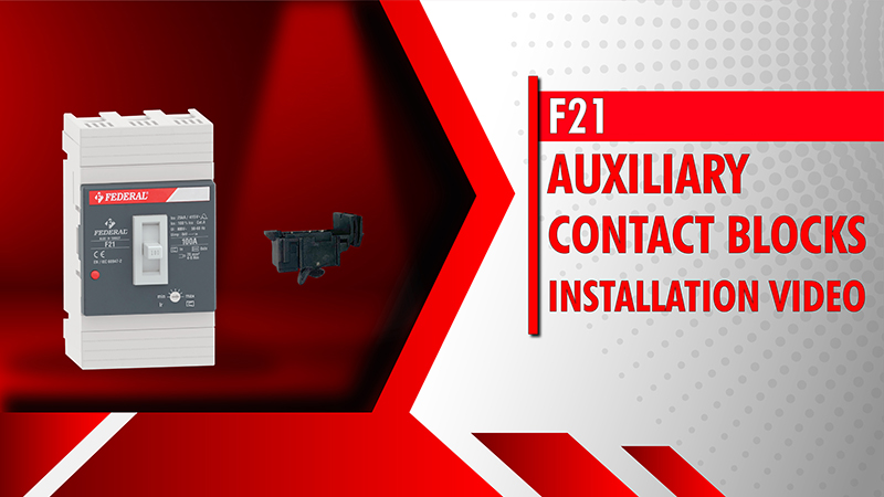 F21 Auxiliary Contact Blocks Installation Video