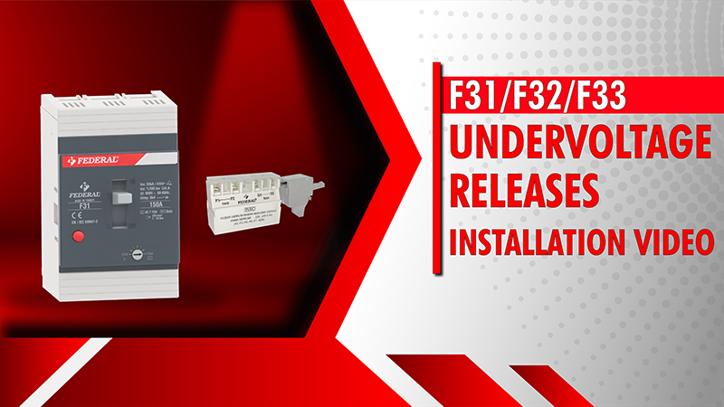 F31-F32-F33 Undervoltage Releases Installation Video