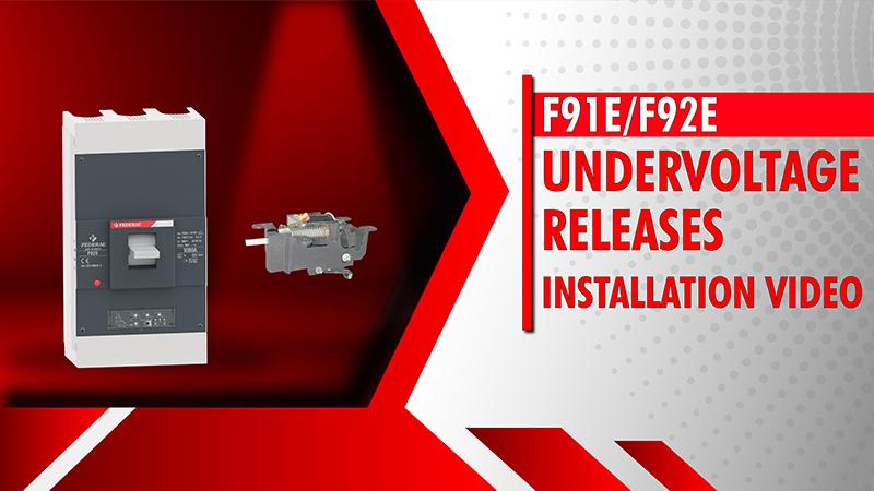 F91E-F92E Undervoltage Releases Installation Vide